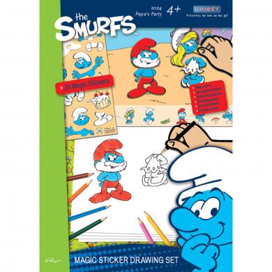 The Smurfs Magic Sticker Drawing Set