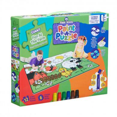 Fun at the Farm Paint Sticks Paint-A-Puzzle