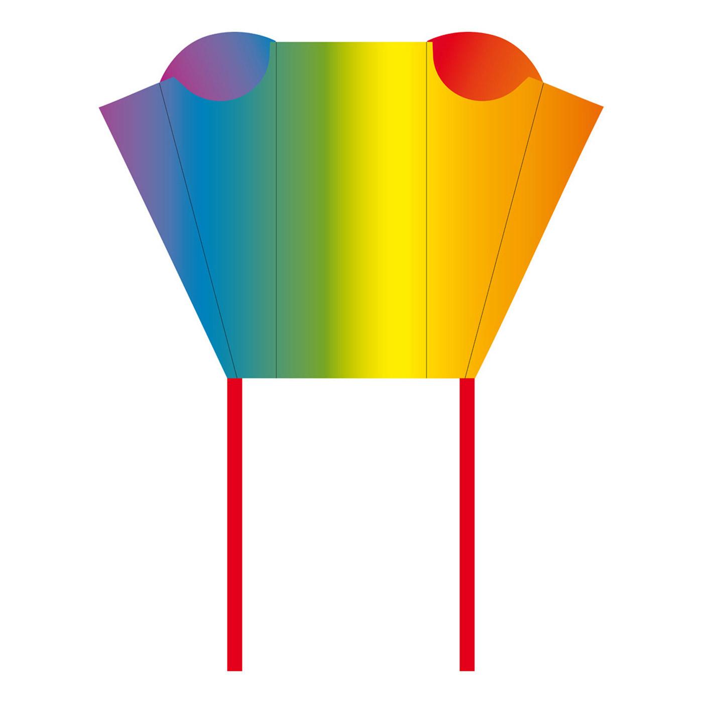 Pocket sled rainbow kite wind designs for Indoor kite design