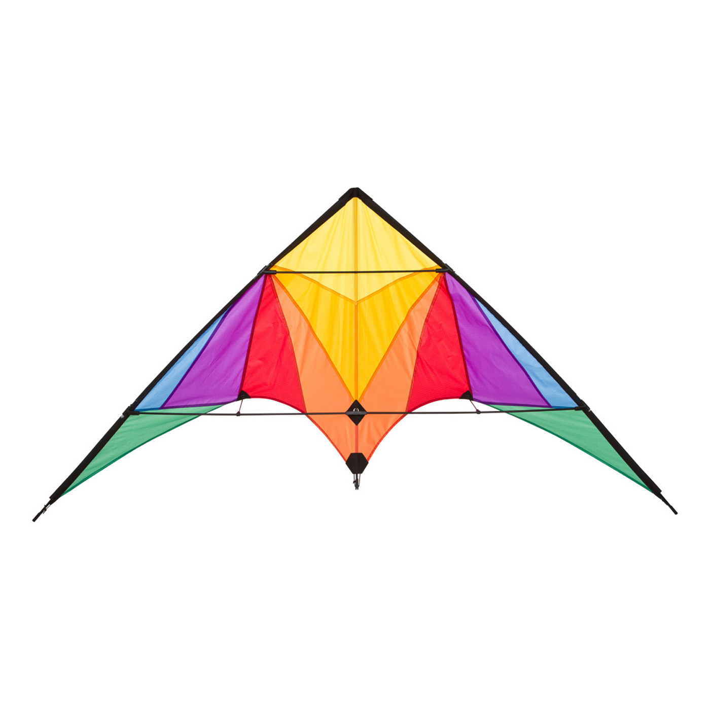 Stunt kite trigger rainbow stunt kites wind designs for Indoor kite design