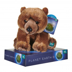 BBC Planet Earth Grizzly Bear with Display Plinth - 25cm