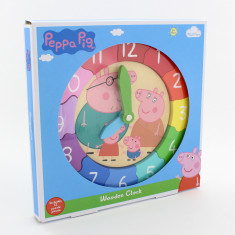 Peppa Pig Wooden Puzzle Clock
