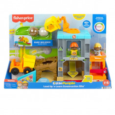 Fisher-Price Little People Load Up 'n Learn Construction Site Playset