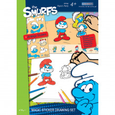 The Smurfs Magic Sticker Drawing Set