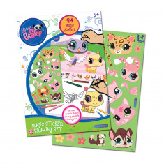 Littlest PetShop Magic Sticker Drawing Set