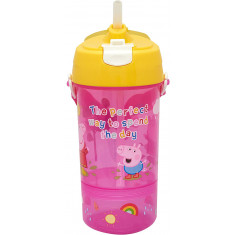 Peppa Pig Perfect Day Sip and Snack Bottle