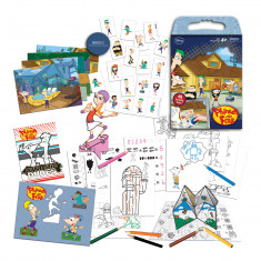 Phineas & Ferb Scratch Art Activity Set