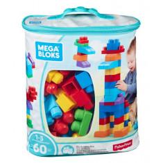 Mega Bloks Big Building Bag 60pc Blue