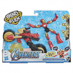Marvel Bend & Flex, Flex Rider Iron Man Action Figure