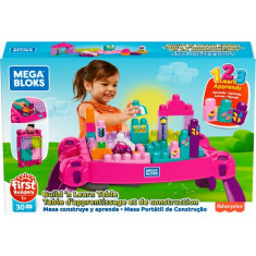 Mega Bloks Build & Learn Table Pink