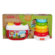 Fisher Price Baby's First Blocks & Rock-a-Stack Eco Gift Set