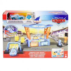 Disney Pixar Cars Colour Change Dinoco Car Wash Playset