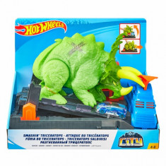 Hot Wheels City Smashin Triceratops