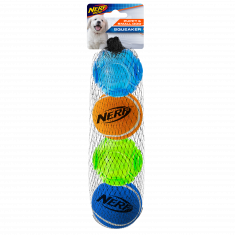 "Nerf Dog Puppy TPR Sonic/Tennis Ball 4 Pack (2"")"